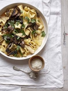 Papardelle with mushroom ragu - Papardelle pasta is my fave! Making this for dinner tonight including the fresh pasta - thanks @Johanna Hörrmann Burnett for lending me your pasta machine!