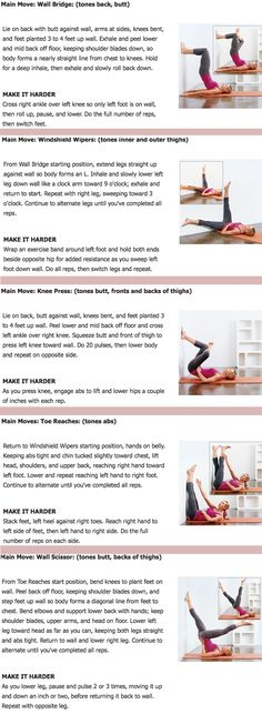 Easier to read than the other one. Wall workout! Try this before legs up wall yoga pose. Quick and efficient! !!!!!!!