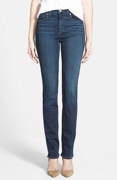 Soft Autumn colored jeans Paige Denim 'Hoxton' High Rise Straight Leg Jeans (Nottingham Blue) available at #Nordstrom