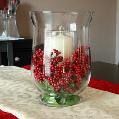 christmas centerpieces Stunning Indoor Christmas Candle Inspirations For Christmas Table Christmas Candle Decorations, Holiday Centerpieces, Christmas Table Settings, Christmas Candles, Graduation Centerpiece, Centerpiece Ideas, Quinceanera Centerpieces, Christmas Tabletop, Advent Candles