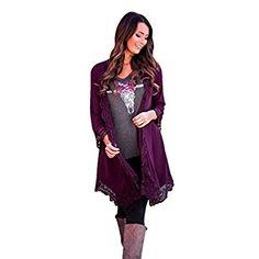 Amazon.com: Women Cardigan,Haoricu Womens Open Front Lace Irregular Shawl Kimono Cardigan Tops Cover Up Blouse: Clothing