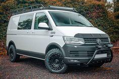 Vw T5, Volkswagen Multivan T6, T5 Camper, Volkswagen Transporter, Vw Camper Conversions, Vw California Beach, Cool Campers, All Terrain Tyres, Camping Style