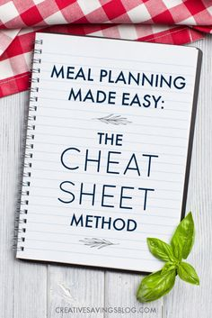 Create a Meal Planning Cheat Sheet the EASY Way!