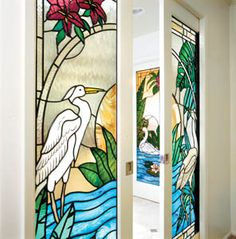 Stained Glass On Pinterest Herons Blue Heron And