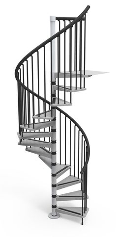 Misterstep Gamia Metal Spiral Staircase Kit - Silver Grey metal-work option # From £948.00 (Inc VAT & UK Mainland Delivery)
