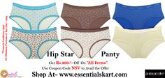 """#amante hipstar Printed panty  Big Offer -Get Rs.200/- Off on """"All Items"""" Use Coupon code """"NSV"""" to Avail the Offer ! Shop Now : www.essentialskart.com #essentials #panty #offer"""