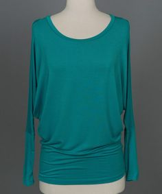 Loving this Green Ultimate Tunic - Women on #zulily! #zulilyfinds