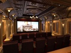Beautiful Luxury Theme Large Home Theater Room