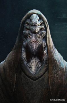 Alien Monk, Boris Kiselicki on ArtStation at https://www.artstation.com/artwork/alien-monk