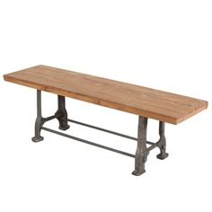 Reclaimed Teak Wood and Steel Bench (India) | Overstock.com Shopping - The Best Deals on Benches