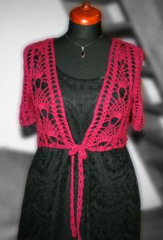 crochet bolero Short Sleeve Dresses, Dresses With Sleeves, Crochet Top, Fashion, Log Projects, Boleros, Hands, Moda, Sleeve Dresses