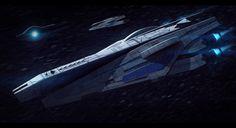 Mass Effect Veracruz-Class Cruiser Commission by AdamKop.deviantart.com on @deviantART