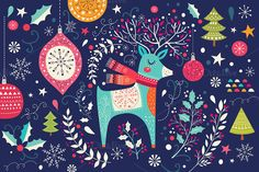 Collection of Christmas cards by MoleskoStudio on @creativemarket