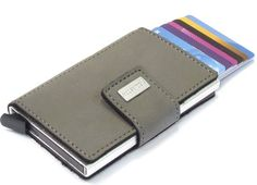 Figuretta cardprotector PU-leer Grijs