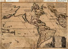 legends of Atlantis and discovery of South America Atlantis, Pirate Maps, Old Maps, Lost City, Vintage World Maps, America, Google Search, Maps, Room