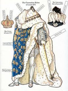 The French Revolution Paper Dolls - Louis XVI* 1500 free paper dolls at artist Arielle Gabriel's The International Paper Doll Society also free China and Japan paper dolls at The China Adventures of Arielle Gabriel for my Pinterest pals *