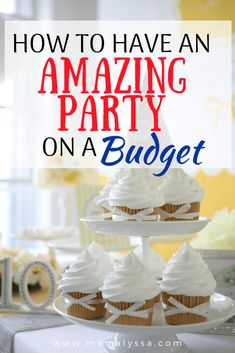 Party planning can be a blast when you create a budget and stick to it. You can have an amazing party on a low budget. Here are ten tips to show you how! Party Planning Checklist, Sprinkle Party, Basic Cake, Baby On A Budget, Party Dishes, Thing 1, Throw A Party, Food Labels, Budget Meals