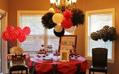 Our little guy's Mickey Mouse 1st birthday party! Link to the pictures on Hostess With the Mostess.
