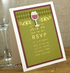 Drinks Invitation by Nichole Heady for Papertrey Ink (November 2012)