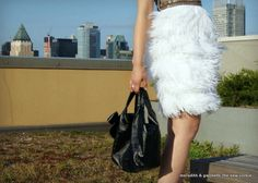 OOMMPPHH! Feather Skirt ...and check out the embellished pocket.