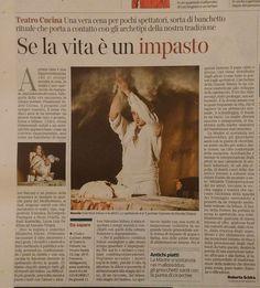 TEATRO-CUCINA®  Inconsapevoli della raffinatezza di un gesto tanto primitivo quanto quotidiano, riscopriamo che degustare è un atto vivo di piacere... Saper raccontare questo omesso piacere, è un atto artistico... Ma l'unica vera opera d'arte, in definitiva, è la pasta di cui siamo fatti.  #teatro #cucina #teateocucina  #milano   www.teatroinpolvere.it https://www.facebook.com/teatrocucinateatroinpolvere
