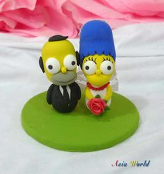 Awesome Wedding Cake Toppers for TV and Film Buffs - The Simpsons cake topper