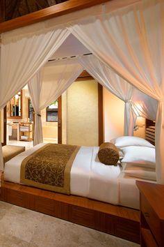 Romantic bedroom at Grand Hyatt Bali