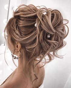 100 Prettiest Wedding Hairstyles For Ceremony & Reception Gorgeous wedding updo hairstyles perfect for ceremony and reception – Messy updo bridal hairstyle for rustic wedding,wedding hairstyles Wedding Hairstyles For Medium Hair, Rustic Wedding Hairstyles, Messy Hairstyles, Hairstyle Ideas, Gorgeous Hairstyles, Elegant Hairstyles, Formal Hairstyles, Easy Upstyles For Medium Hair, Medium Wedding Hair