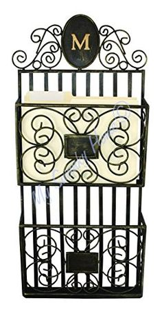 Monogrammed Wall Magazine Letter Rack  Personalized Shelf Metal -- Click image for more details.