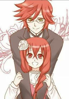 Grell and Madame Red when they were younger...this is quite adorable...
