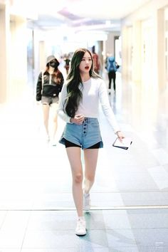 Photo album containing 10 pictures of Wonyoung Stage Outfits, Fashion Outfits, Pop Fashion, Ulzzang, Jang Wooyoung, Japanese Girl Group, Street Style, Airport Style, Airport Fashion