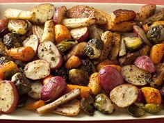 Roasted Potatoes, Carrots, Parsnips and Brussels Sprouts Recipe : Giada De Laurentiis : Cooking Channel