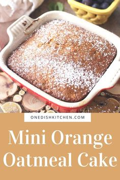 This Orange Oatmeal Cake recipe is a dream, the mini cake's tender crumb perfumed with oranges makes it ideal for breakfast, an addition to your brunch table or as an afternoon snack or dessert. This single serving cake is made with oats, orange juice and a few other pantry staples. Bake in a small baking dish or use the batter to make 2 muffins.