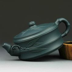 Unique Green clay bamboo pottery Yixing teapot