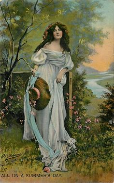 woman with wide brim hat