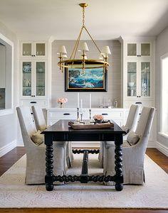 InGoodTaste:MarianneSimon   Design Chic · Black Dining Room ...