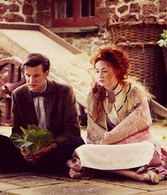 Zygon ship hidden under the Savoy.... completely unexpected... but I guess it worked out for the best, eh? (as he is holding a plant)