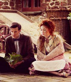 Matt Smith as the Eleventh Doctor and Karen Gillan as Amy Pond