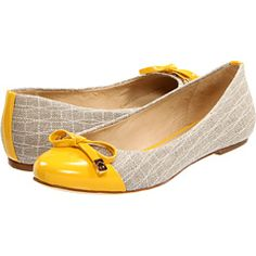 Now these?  These I can see wearing all fall long.  An adorable shoe for those of us too clumsy to walk in heels for long.
