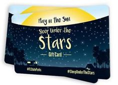 JAN. 2016 | Gift Cards Now Available --- Give the gift of sleeping under the stars in Florida State Parks! Florida State Parks offers Gift Cards which can be used to make reservations for camping and cabins at participating Florida State Parks.