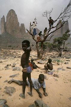 Africa | People.  Children playing in Mali