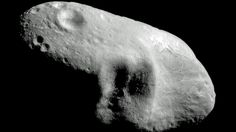 An image provided by NASA in 2000 shows the near-Earth asteroid Eros. Astronomers expect another large asteroid, the 2012 LZ1, to fly past our planet Thursday at a distance of 5.4 million kilometres from Earth.