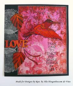 Alie Hoogenboezem-de Vries: Take time to enjoy....Designs by Ryn stamps