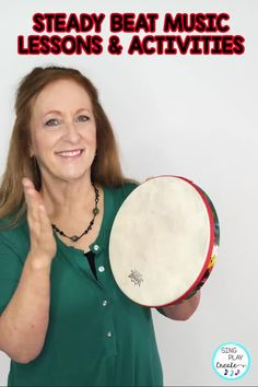 Music lesson activities for teaching the STEADY BEAT. Get the lesson tips, Free Resources and Activities in this informative blog post by Sandra @singplaycreate Kindergarten Music Lessons, Elementary Music Lessons, Teaching Music, Music Education Games, Music Games, Orff Activities, Music Classroom, Songs, Percussion