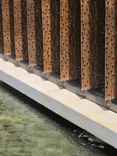 Perforated corten steel facade -Ferreteria O´Higgins / GH+A Building Skin, Building Facade, Green Architecture, Architecture Details, Chinese Architecture, Futuristic Architecture, Valladolid, Metal Cladding, Perforated Metal