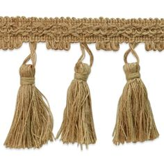 """15 yards of Natural Jute Tassel Trim Natural Jute Tassel Trim - Natural - 3 1/2 - Yard. Product comes..."""""""
