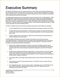 Executive Summary Resume Writing Sample Samples Format Cover