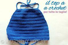 Scuola di Uncinetto: il top estivo da fare a crochet in 2 ore per donna e bimba