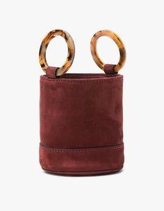Need Supply Co / Bonai Bag Oxblood Nubuck Suede Bucket Bag