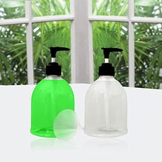 16 Oz Clear Kitchen Soap Dispenser, Dish, Or Hand Soap Pu.